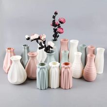 Ornament Flower-Vase Origami Home-Decoration Living-Room Plastic Nordic-Style Modern
