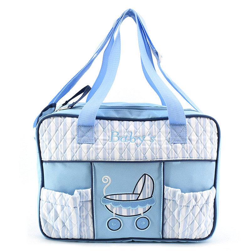 Cotton Mummy Bag Multi-function Mummy Nappy Bag Large Capacity Travel Stroller Shoulder Baby Diaper Bags Hight Quality Hot
