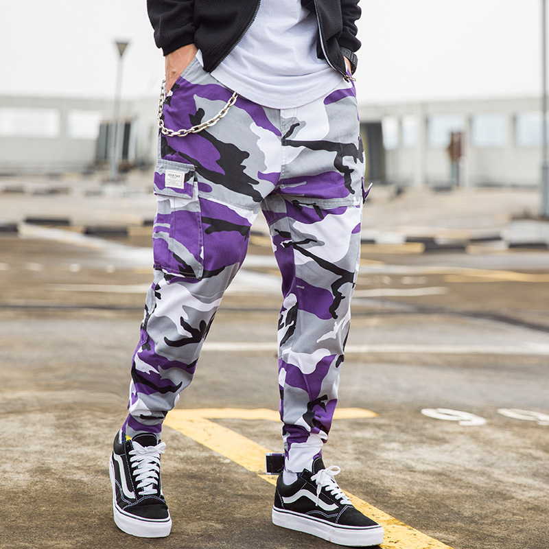 Zogaa 2019 New Fashion Men's Camouflage Military Cargo Pants Loose Streetwear Cotton Mens Jogger Autumn Straight Male Trousers