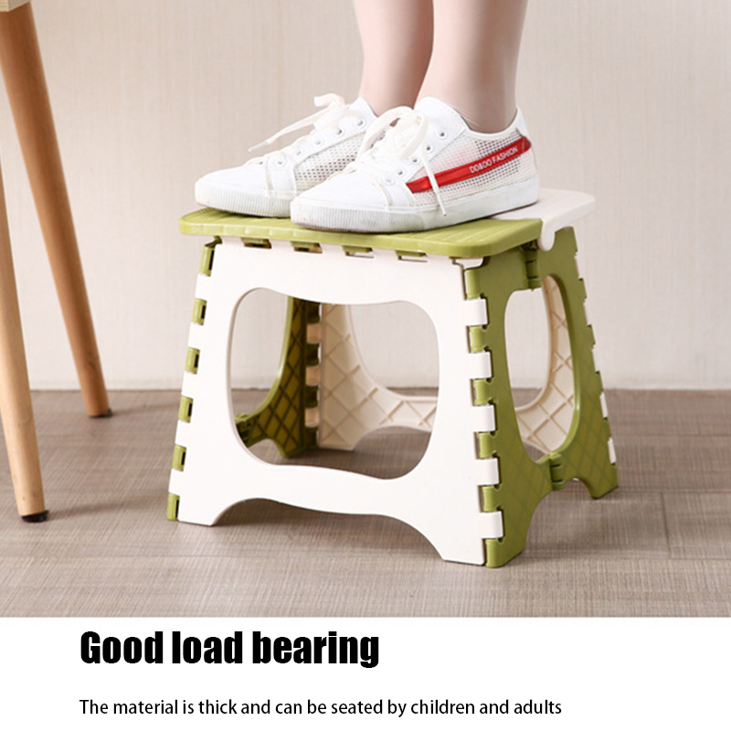 Plastic Multipurpose Folding Step Stool Home Train Outdoor Foldable Storage Convenient TUE88