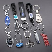 3D металлический автомобильный брелок для ключей, брелок для ключей с логотипом, автомобильные аксессуары для Subaru forester legacy outback xv impreza wrx sti ...