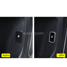 For Haval H9 2015-2019 Car Fuel Tank Switch Button Decorative Frame Stainless Steel Stickers Decoration