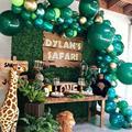 Зеленые воздушные шары-гирлянды арочный комплект животных воздушный шар День Рождения Декор для детей первый день рождения джунгли баллон ...