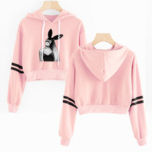 New Products Ariana Grande Trend Korean-style Navel Hoodie S
