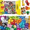 Классические строительные блоки из 1000 деталей, конструктор, игрушки «сделай сам», город для девочек и мальчиков, без коробки, базовые креати...