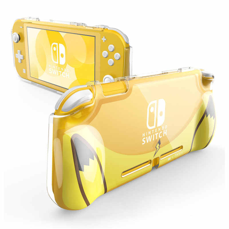 Mumba Case For Nintendo Switch Lite (2019 Release), [Thunderbolt Series] Protective Clear Cover Case with TPU Grip (Yellow)