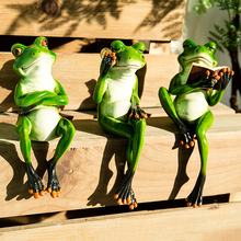 Creative 3D Resin Frog Figurines Cabochon Crafts Ornaments For Home Decor Tabletop Gift Birthday