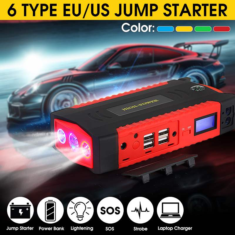 82800mAh 12V 600A Multifunction Jump Starter Portable 4 USB Car Battery Booster Charger Booster Power Bank Starting Device EU image