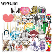 100 Pcs/pack Classic Fashion Style Graffiti Waterproof Stickers for Moto Car & Suitcase Cool Laptop Skateboard Sticker