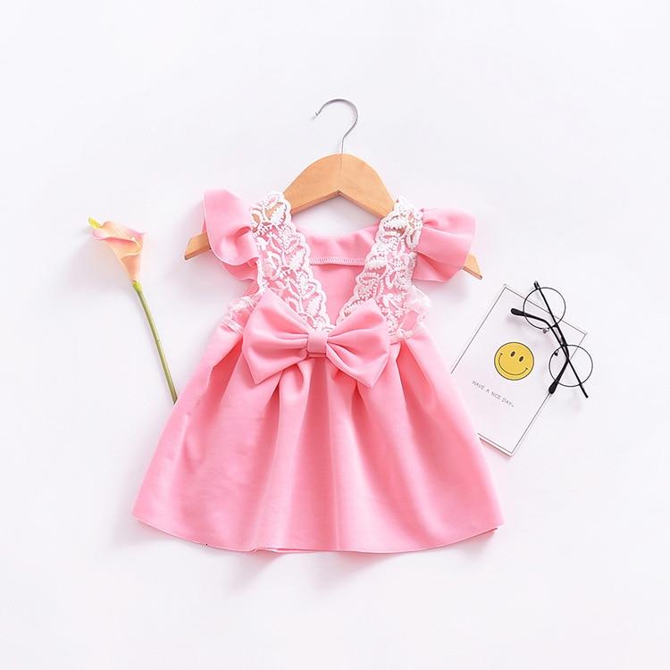 Hefea7cae32164ad38d14bbbb891509f4u Girls Dress 2018 Summer Explosion Solid Color Denim Dress Cartoon Polka Dot Bow Cartoon Bunny Satchel Korean Baby Cute Dress