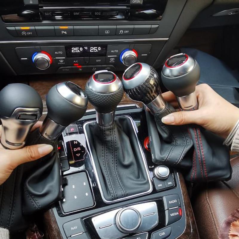 Fiber de carbone Pommeau de levier de vitesse Pour Audi a3 A1 3 6 7 Q3/RSQ3 RS 3 4 5 6 7 M² 3 5 6 7 carbonne audi levier de vitesse