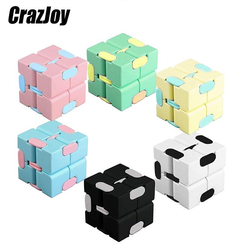 Engraçado aliviar o estresse magia mão antiestresse infinito cubo anti estresse brinquedo quadrado puzzle brinquedos jogo labirinto criança adulto brinquedos