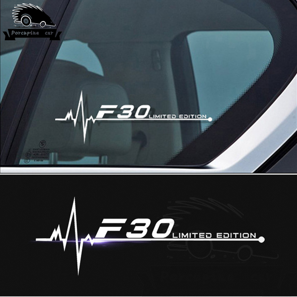 2PCS/Lot Car Side Window Stickers Decals For <font><b>BMW</b></font> <font><b>F01</b></font> F02 F07 F10 F15 F16 F20 F25 F30 F31 F34 F45 F46 F48 F82 F85 F87 <font><b>Accessories</b></font> image