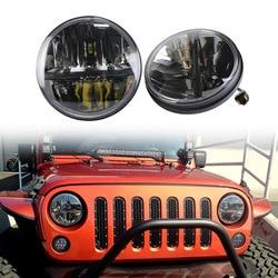 Faros delanteros para motocicleta todoterreno vectra de 7 pulgadas jeep wrangler 30 w luz led para coche
