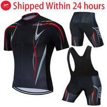 2020 TELEYI Team black Cycling Clothing Bike Jersey Ropa Mens Bicycle Summer Pro Cycling Jerseys 19D Gel Pad Bike Shorts