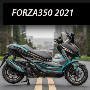 Image 1 - Forza350 2D Motorcycle Body Full Kits Decoration Carbon Fairing Emblem Sticker Decal For Honda NSS350 Forza 350 accessories 2021