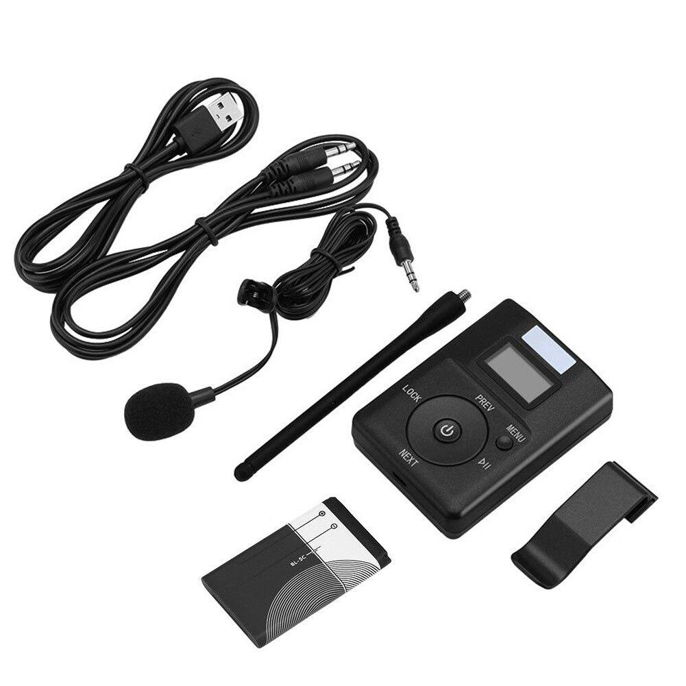 Durable pour MP3 PC CD adaptateur de diffusion Portable Support carte TF Mini Radio stéréo rapide 3.5mm Aux emetteur FM pratique - 3