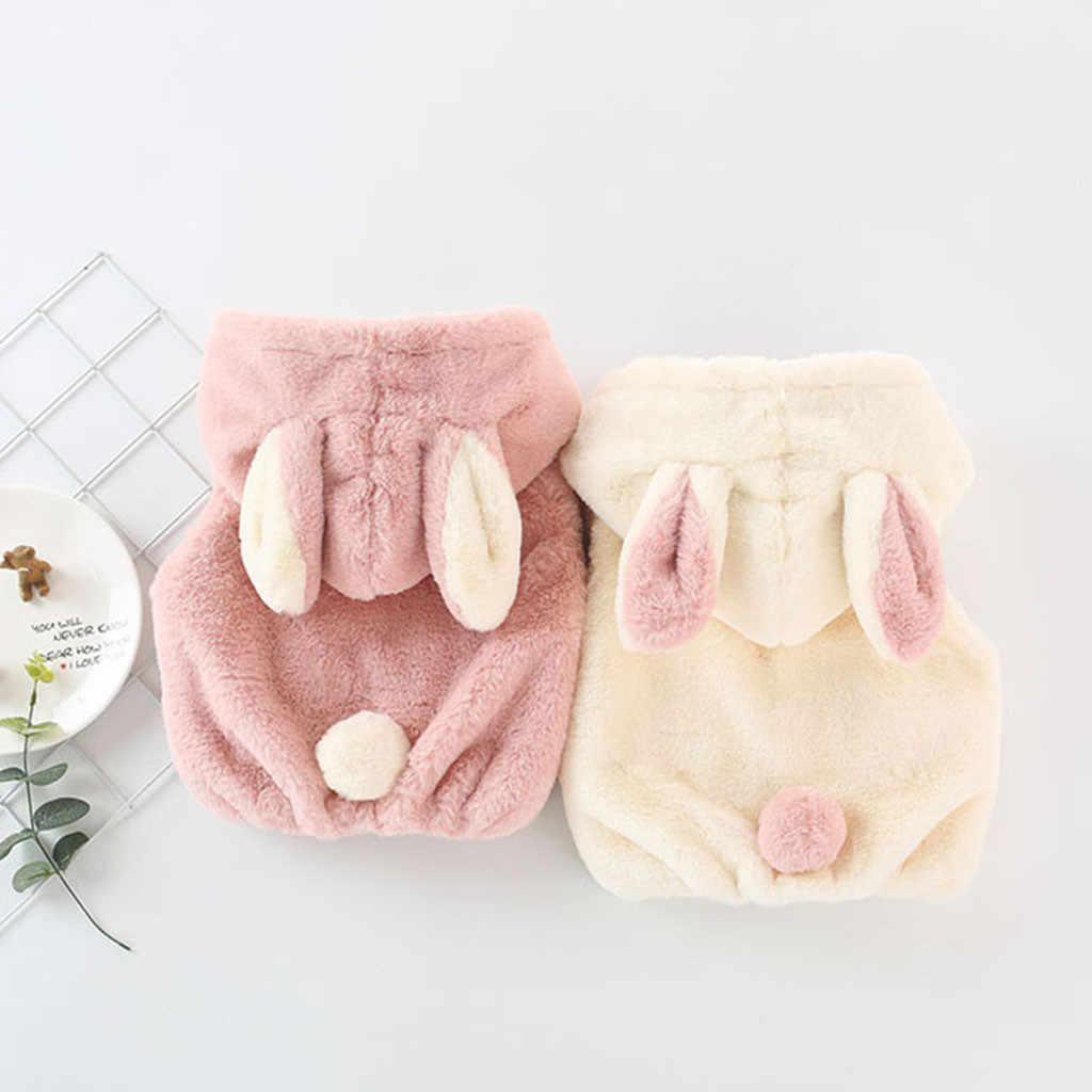 תינוק בנות קטיפה עבה קטיפה חם ללא שרוולים אפוד תינוק כיס רוכסן סלעית אוזני ארנב האופנה פו פרווה מעיל אופי