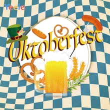Yeele Oktoberfest Carnival Squares Food Breaks Beer Photography Backdrops Personalized Photographic Backgrounds For Photo Studio