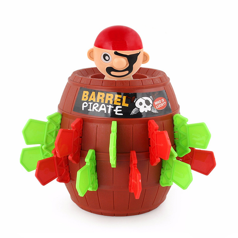 New Exotic Toy Plastic Pirate Bucket Novelty Game Toy Oversized Lucky Stab Pop Up Toy Piggy Bank Kids Funny Toys Trick Children