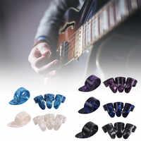 4 Uds guitarra plectros de tubo pulgar dedo selecciones para eléctrica acústica guitarra YS-BUY