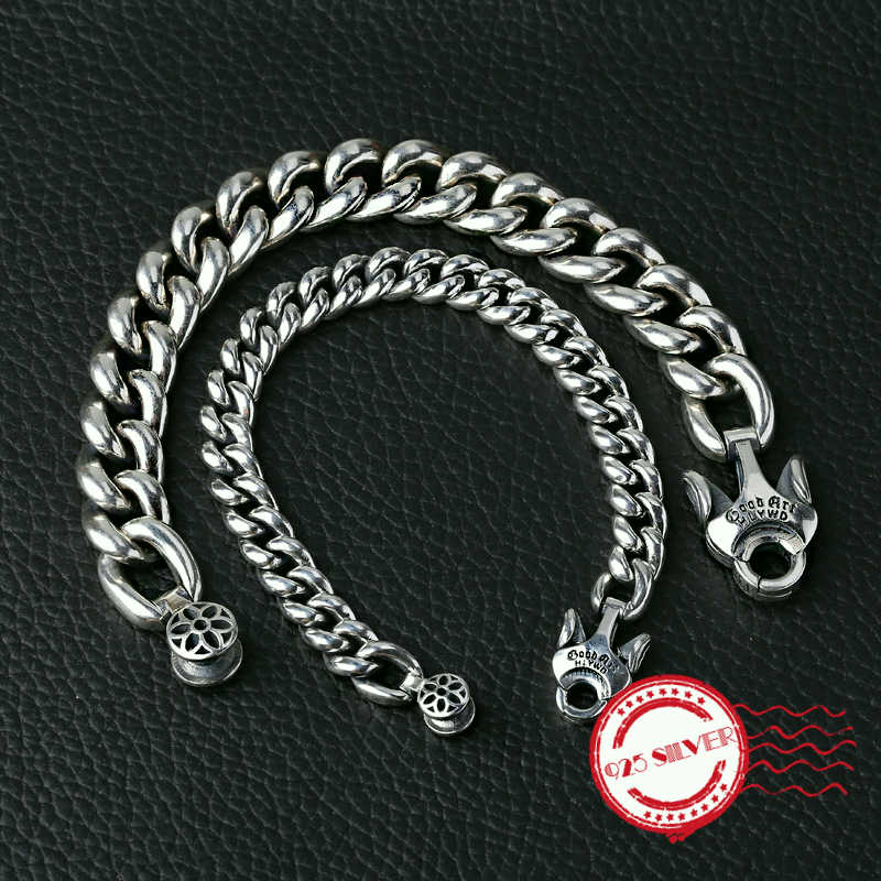 S925 sterling silver men's bracelet personality fashion fashion accessories domineering cherry modeling 2020 new gift to send