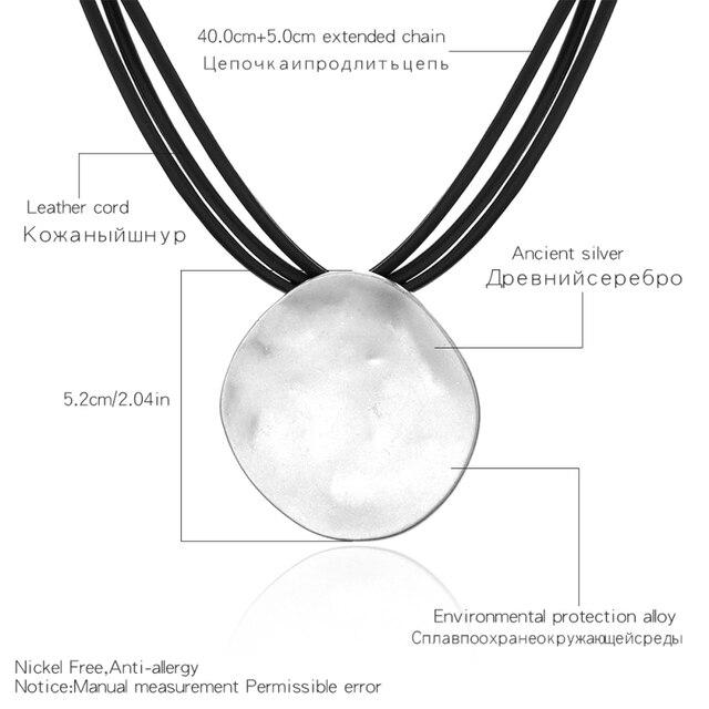 Купить ожерелье чокер в стиле панк для женщин простой объемный круглый