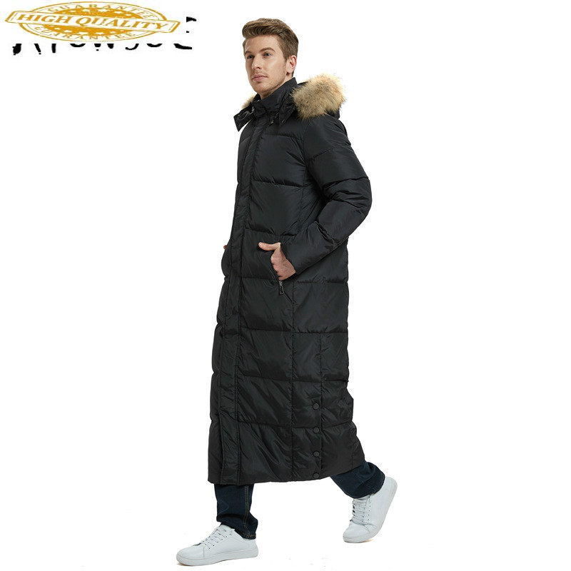 White Duck Down Jacket Men Korean Winter Coat Men Fox Fur Collar Puffer Jacket Men Down Coat Warm Parka Abrigo YY1686