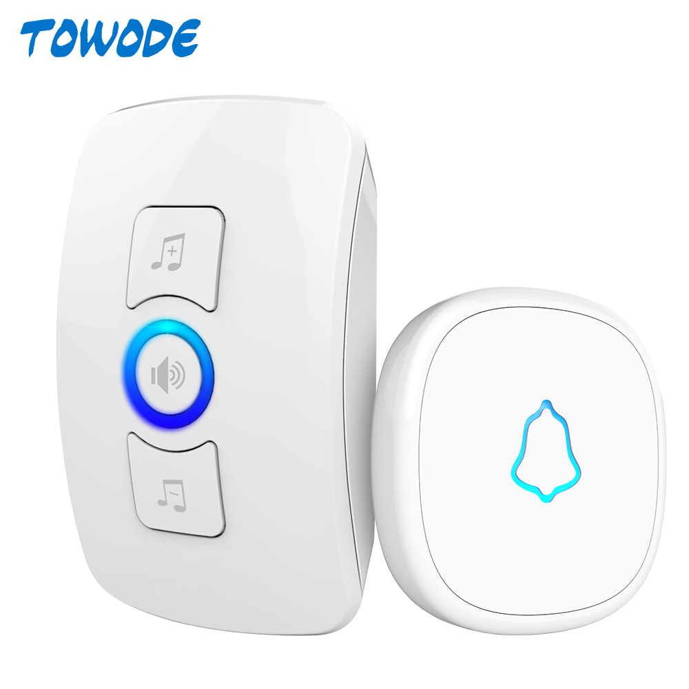 M525 Wireless Doorbell System 32 Songs Optional Doorbell Transmitter Chime Welcome Security Alarm Security Emergency Call System
