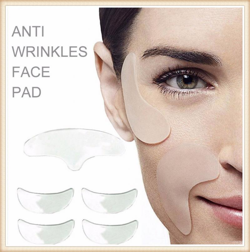 Women Skin Care Anti Wrinkle Eye Lines Shin Pads Anti Wrinkle Eye Face Pad Silicone Invisible Chest Pad Smooth Skin Pad Sleeping