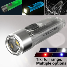 100% Оригинальный NITECORE TIKI GTID тики LE бамбуковые GITD синий 300 лм мини футуристический мульти-Функция брелок Светильник зарядка через USB
