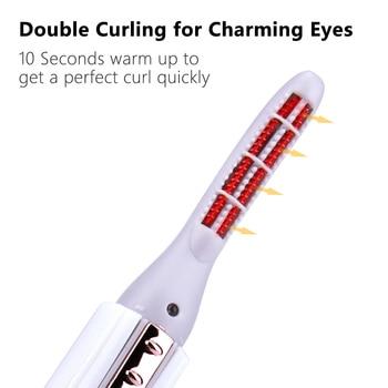 Electric Heated Eyelash Curler Perm Eyelash Curling Pen Heated Long Lasting Eye Lash Comb with Heat Indicator Eyes Makeup Tools 3