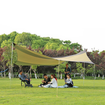 Hewolf 6-8 person 210T silvering sunscreen Oxford cloth PU3000 pergola anti-canopy awning sun shade canopy camping tent
