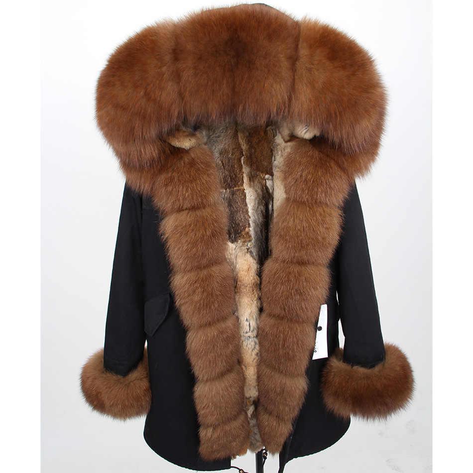 MaoMaoKong 2019 frauen winter natur echte Kaninchen Pelz liner parkas natürliche fuchs pelz Mit Kapuze Jacke mantel lange pelz Parka oberbekleidung