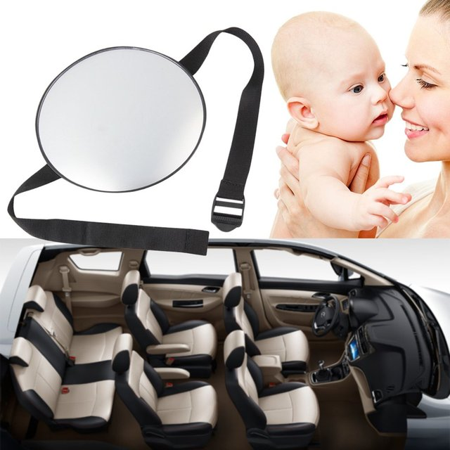 Stylish Car Safety Easy View Back Seat Mirror Baby Facing Rear Ward Child Infant Care Round Shape Baby Kids Monitor Hot 2