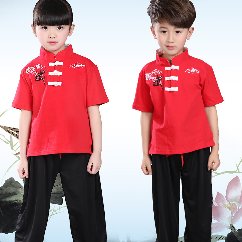 Children Martial Arts Wear Exercise Clothing CHILDREN'S Kung Fu Children New Style CHILDREN'S DAY Young STUDENT'S Men And Women