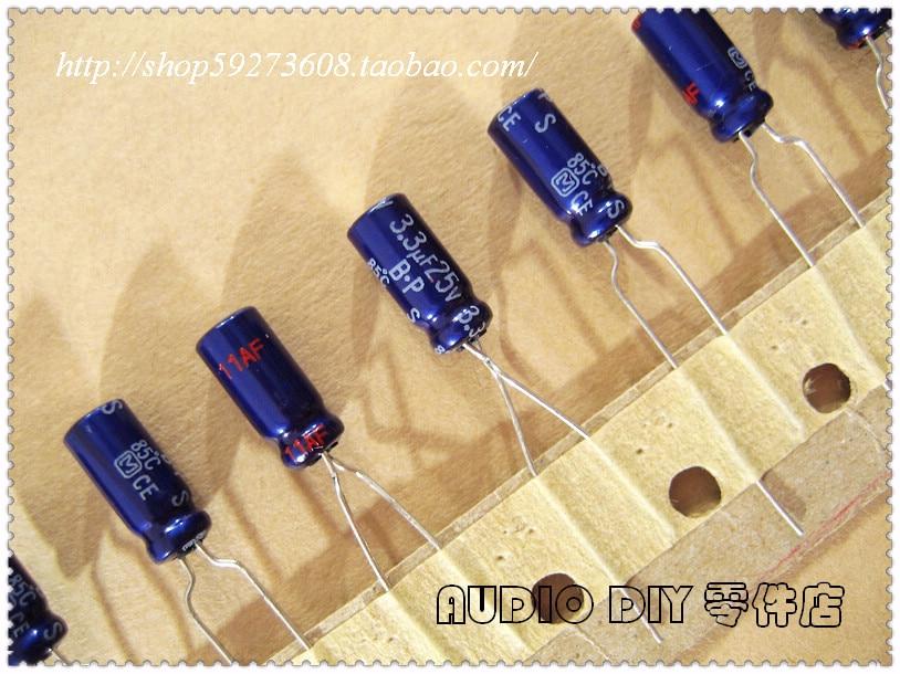 5//50pcs ELNA 10uf 50V SilmicII RFS 8x11 Audio Non-Polar Electrolytic Capacitor