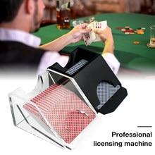 Профессиональная высококачественная машина для лицензирования, покерный дилер, Техасский Холдем, черный прозрачный Blackjack, продающий обувн...