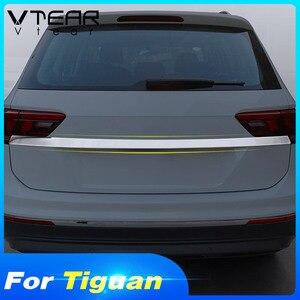 Image 3 - Vtear для VW Tiguan тигуан 2020 2019 2018 задний багажник отделка двери Наружные молдинги аксессуары из нержавеющей стали Автоматическая задняя дверь защита,автомобильные товары