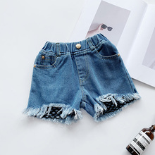 12M-7 Years Baby Girls Jeans Shorts Pant 2020 Summer Children Girls Short Pants for Kids Ripped Jeans Girls Casual Denim Shorts eaboutique 2018 new street fashion rock star kids summer big holes jeans for girls jeans 2 6 years old