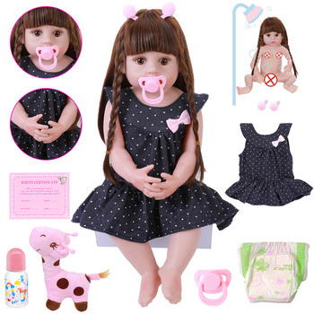 NEW 56CM Reborn Baby Toddler Doll Realistic Adorable Babies DOLL Very Soft Full Body Silicone Dolls Bath Toy Bonecas Xmas Gift 48cm reborn baby doll toddler girl pink princess soft full body silicone babies dolls lifelike realistic bonecas toys for kids