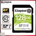 Kingston sd cartão 128gb cartão de memória sdxc cartão digital classe 10 cartao de memoria para canon nikon sony câmera