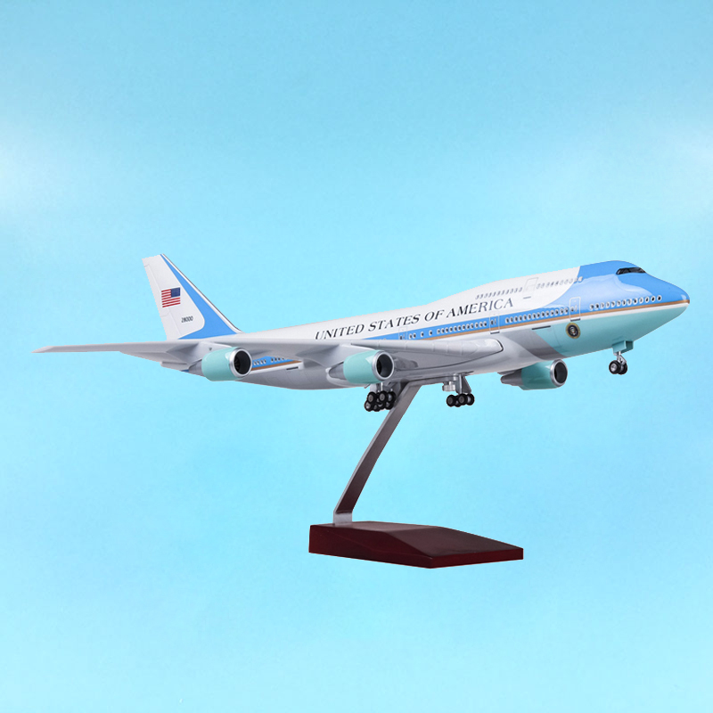 47cm 1 150 Aviation Airplane Model Toy Boeing B747 Air Force One
