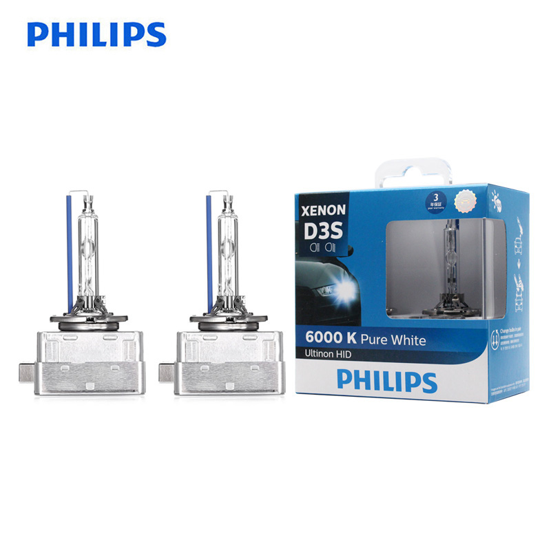 Philips D3S 42403WXX2 35W Ultinon HID 6000K Cool Blue Xenon White Light Auto Original Bulbs Car Headlights Quick Start, Pair