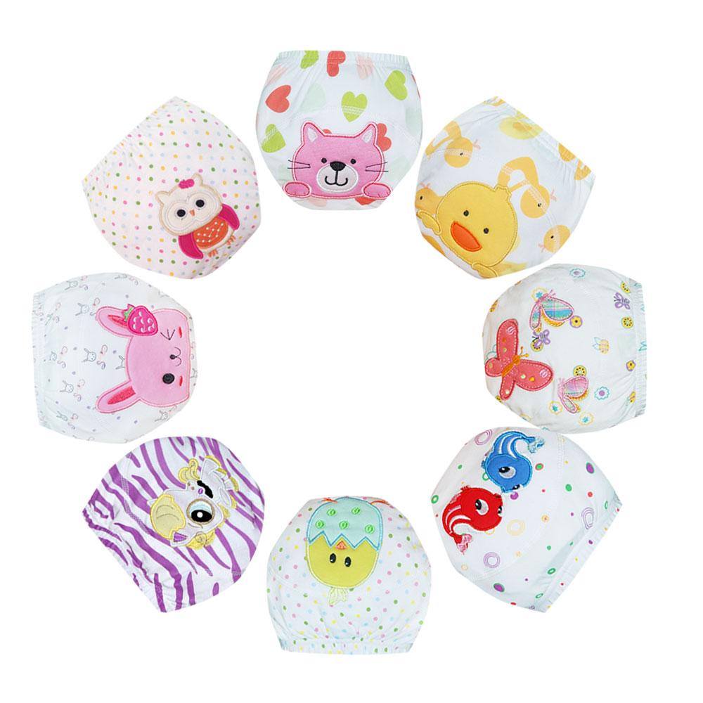 Whosale Baby Waterproof Diaper Pant Potty Training Panties New Underwear Reusable Diapers Cartoon Training Pants Baby 25pcs/lot