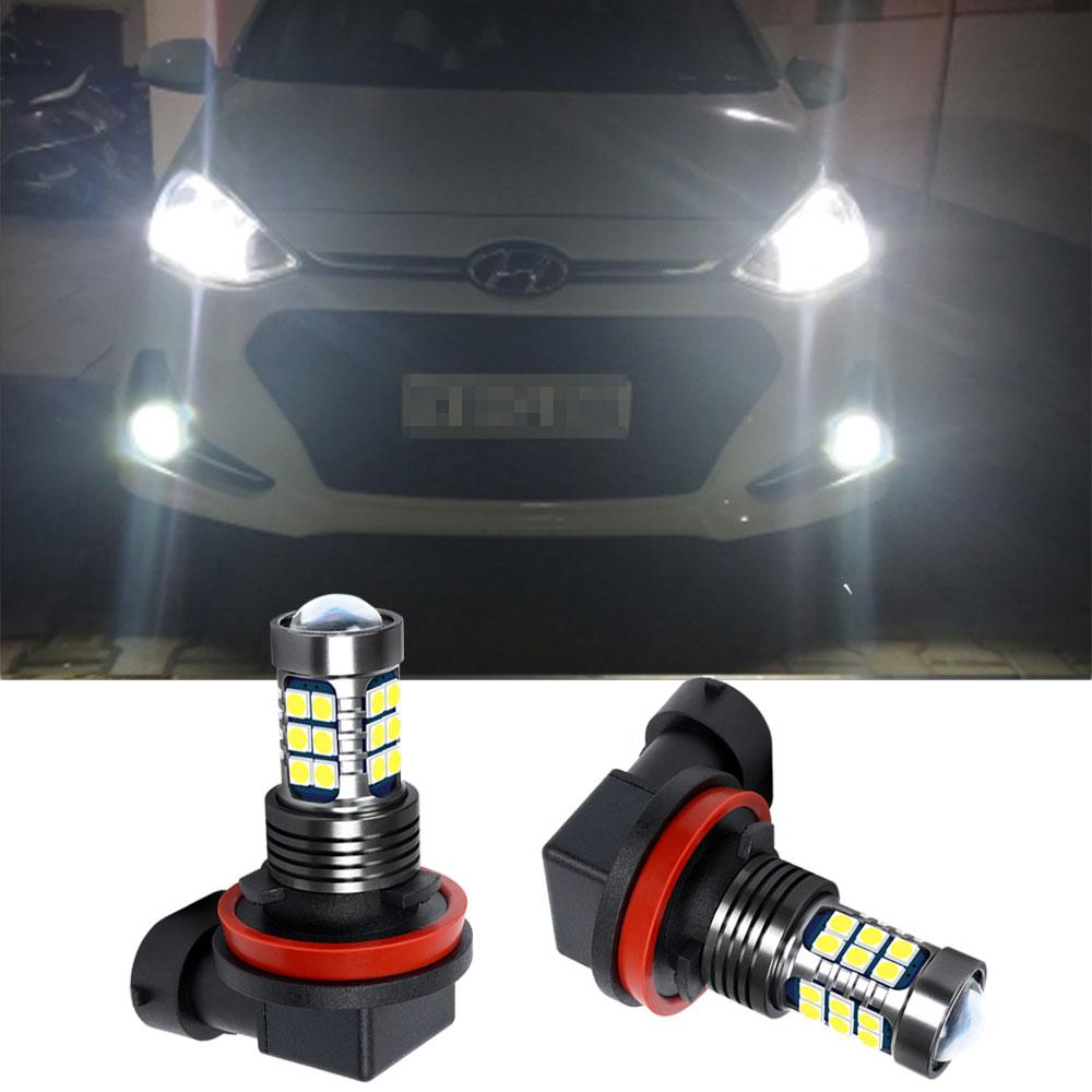2x H8 H11 LED Auto Nebel Lampe Tagfahrlicht Für Hyundai Azera 2009 2010 2011 2015 Grand SanteFe 2013 tuscani 2009 Veracruz