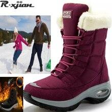 Boots Warm Women Sneakers Platform Fur Ankle-Bootswomen Non-Slip Plush Waterproof Outdoor
