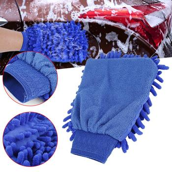 1pcs Durable Cleaning Gloves Soft Double-sided Car Kitchen Household Cleaning Wash Washing Cleaning Gloves Car Washing Tool image