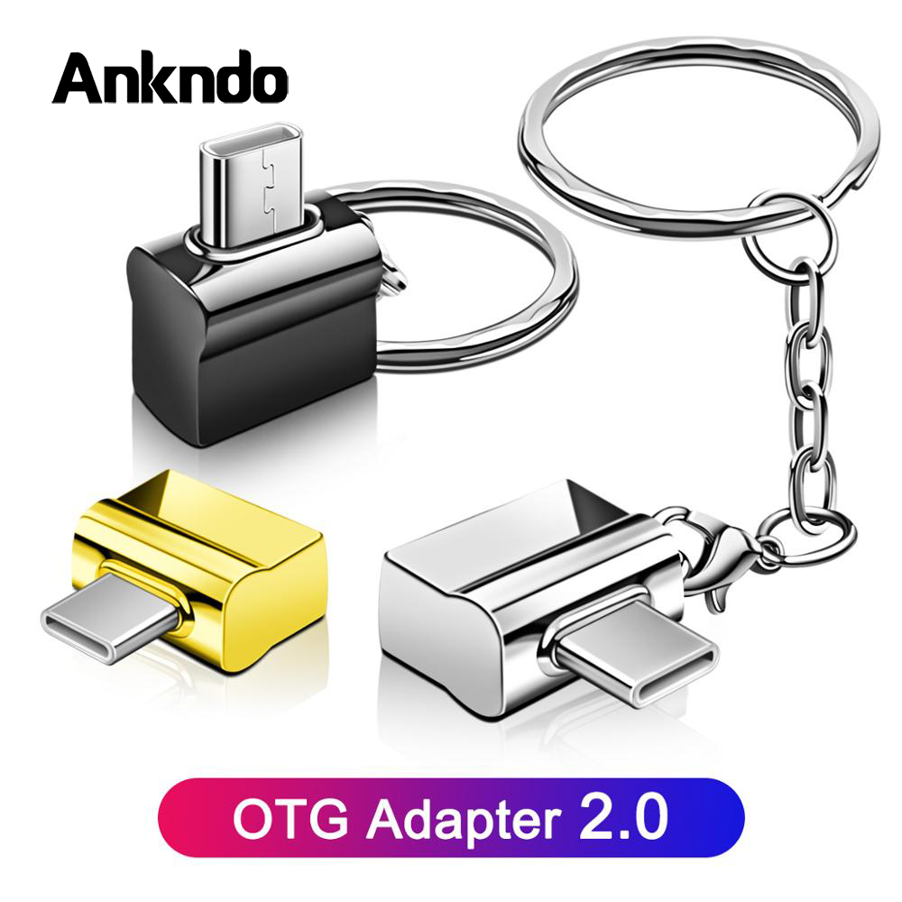 Micro USB Type C OTG Adapter Micro USB Converter For Mobile Phone Tablet Type-C Cable OTG Plug Charge Data Disk Connector