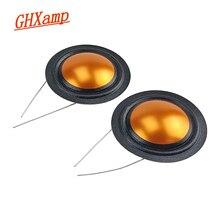 Ghxamp 25.9 ミリメートル 4ohm ツイーター音声コイルシルク + チタンダイヤフラム高音修理部品同じ側ラウンド銅線 1 ペア